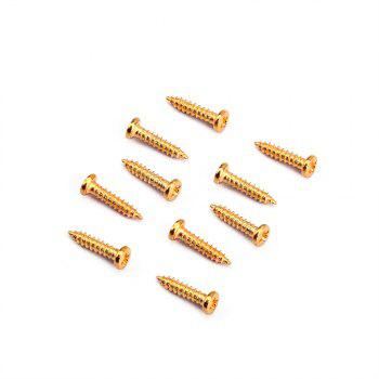 Tuning Peg Key Mounting Screws for Electric Acoustic Guitar Bass 50PCS - GOLD