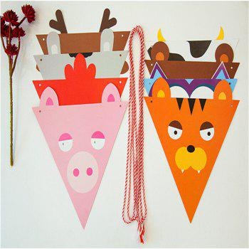 Lovely Cartoon Cotton Garland For Baby Birthday Shower - multicolor A
