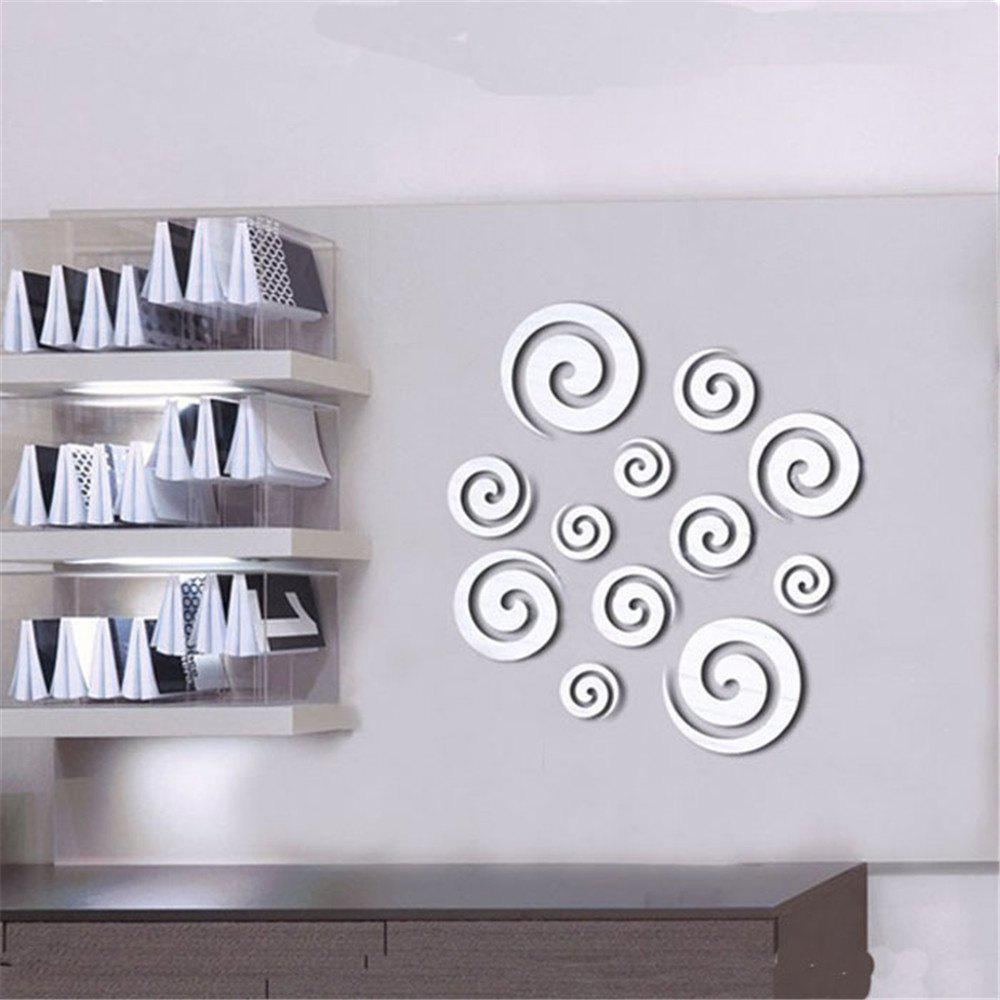 3D Shining Acrylic Mirror Wall Sticker Decoration Decor - SILVER