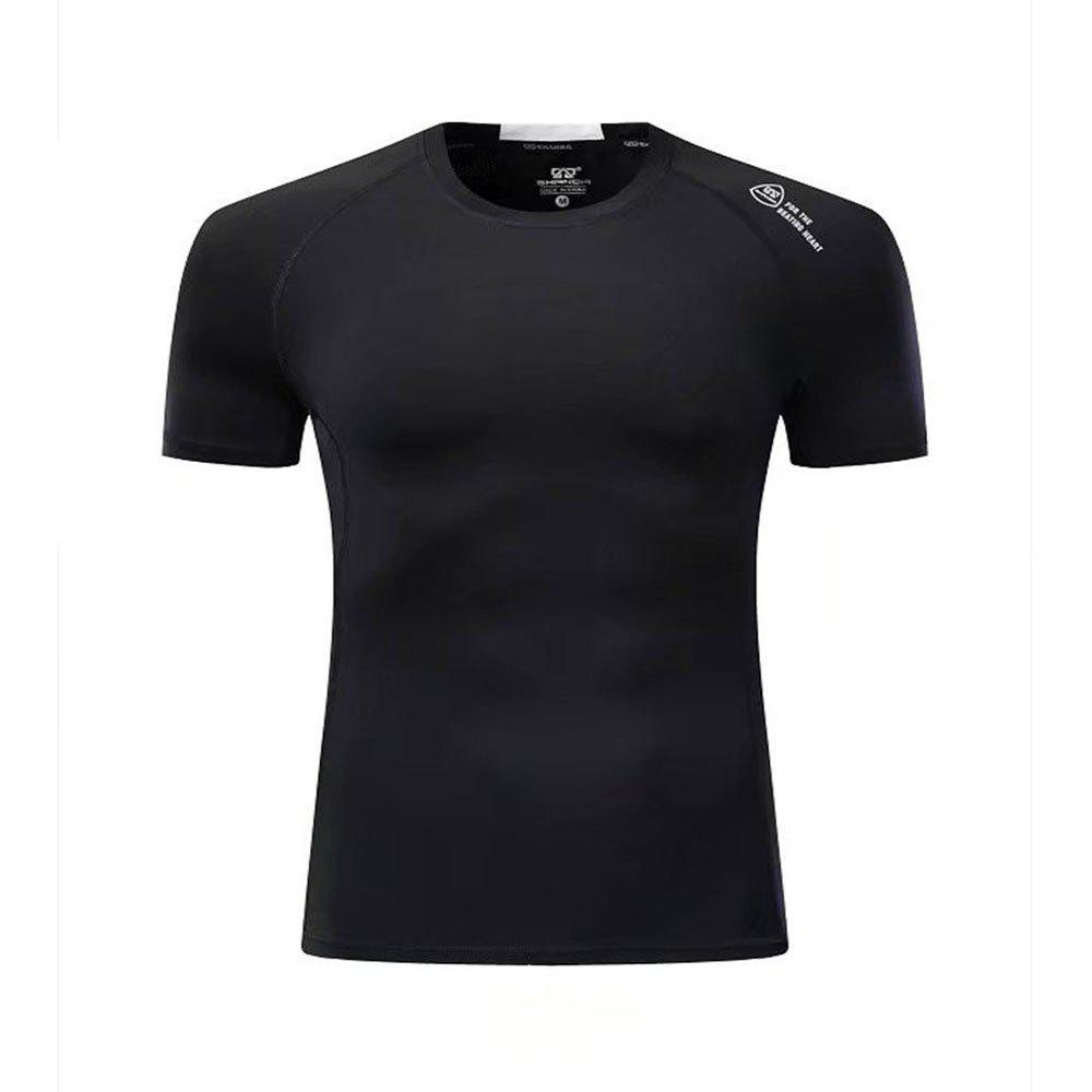 Men's Sport Casual Short Sleeve T-Shirt - BLACK 2XL