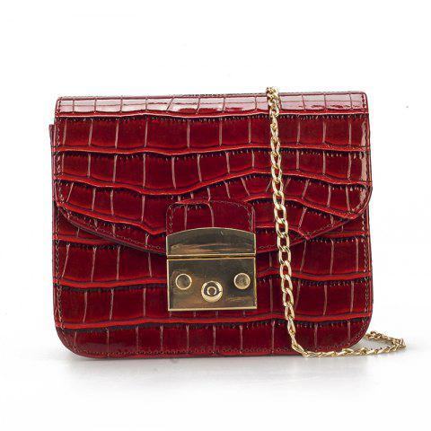 Wild Shoulder Messenger Chain Mini Party Bag - RED