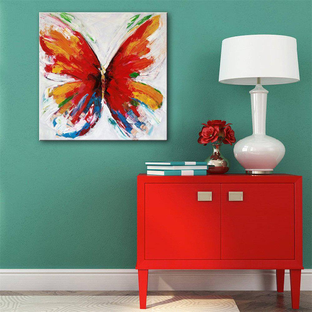 Special Design Frameless Paintings Colorful Butterfly Print - multicolor 24 X 24 INCH (60CM X 60CM)