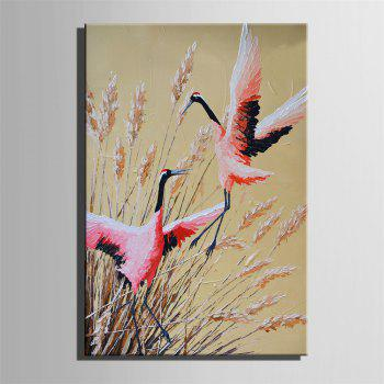 Special Design Frameless Paintings Red-Crowned Crane Print - multicolor 24 X 16 INCH (60CM X 40CM)