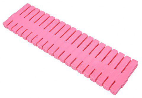 New  Adjustable Plastic Stretch Clapboard Drawer Divider - WATERMELON PINK