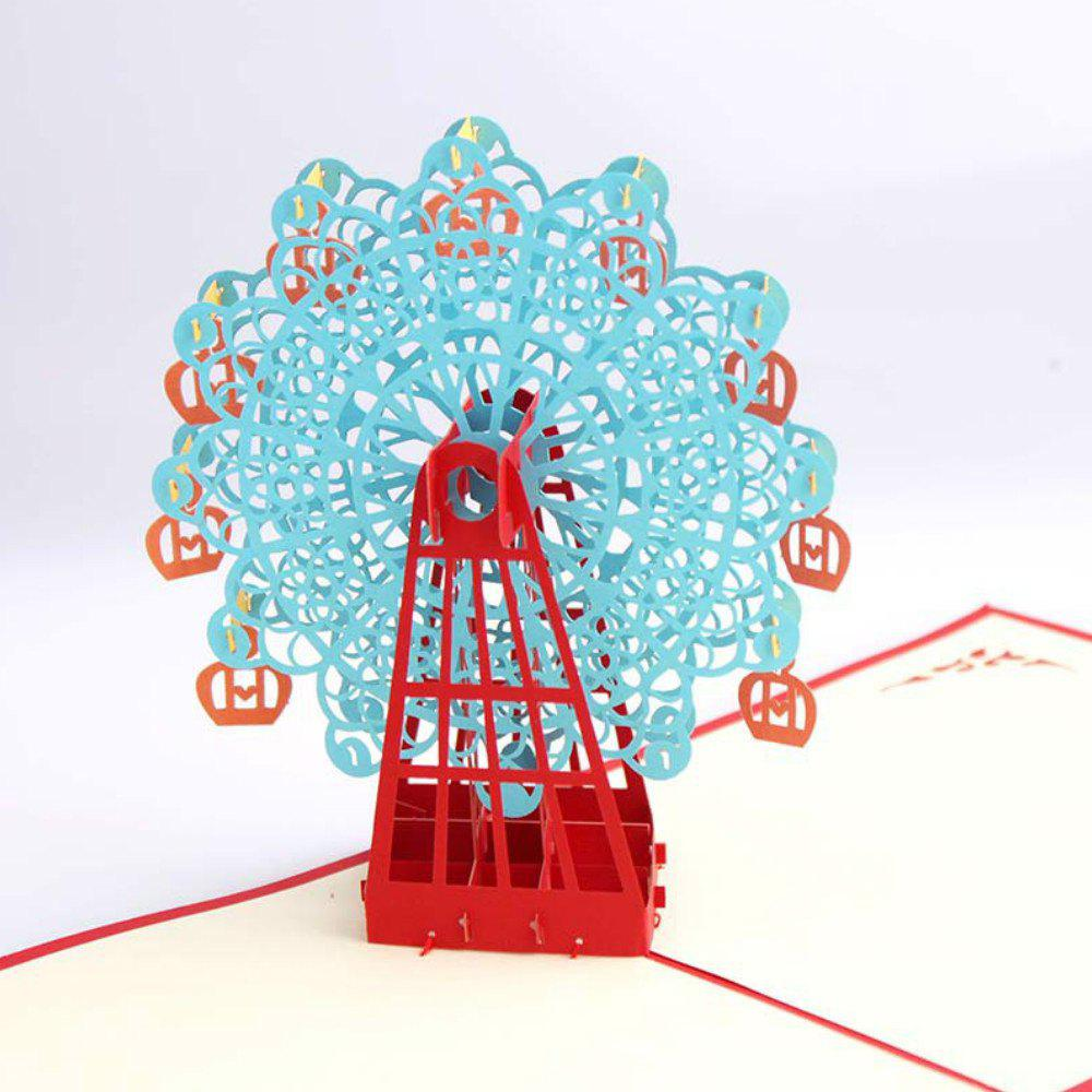 3 D Ferris Wheel Origami Paper Greeting Cards Happy Birthday Gift - CELESTE