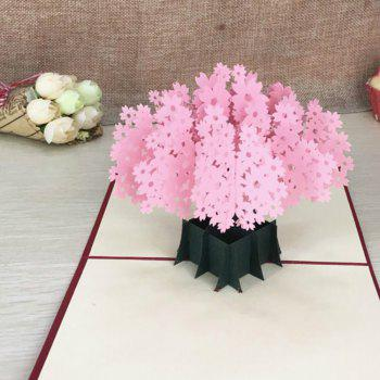 3D Cherry Blossoms Greeting Card Birthday Gift - PINK