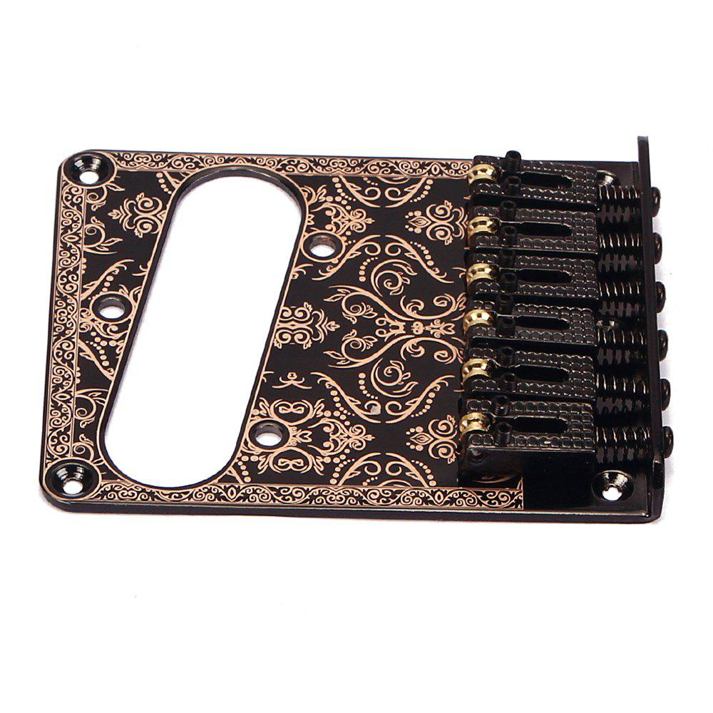 Electric Guitar TL Single Pickup Bridge with Pattern Black electric guitar mini humbucker pickup neck bridge set with 6 pole piece golden pickup accessory for guitar parts