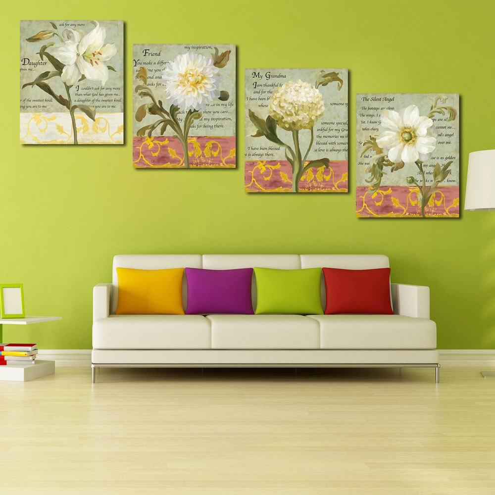 2018 W128 Flowers Unframed Art Wall Canvas Prints for Home ...