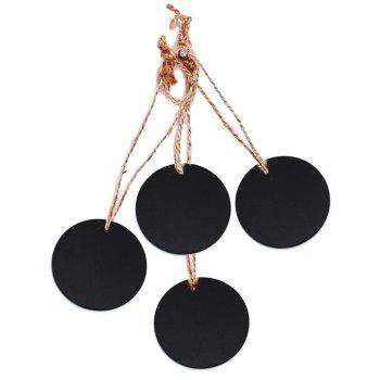 Circular Double Small Blackboard Pendant Decoration Accessories 10PCS - BLACK
