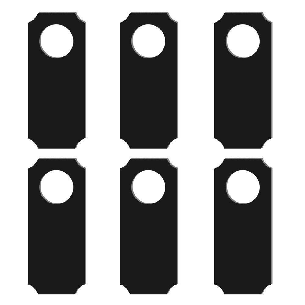 6PCS Creative Door Hung Double-Sided Blackboard Hotel Sign door sign plate indicator for toilet rest room washroom quality acrylic creative design women man 3d 10x24cm customized