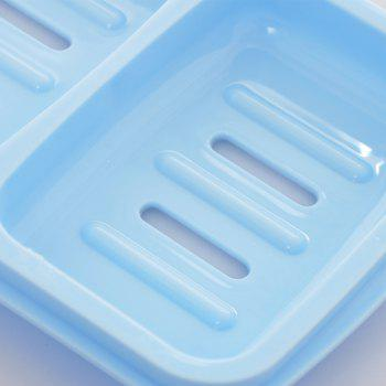 Candy Color Double Grid Lid Waterproof Soap Box Creative Drain Soap Holder - DAY SKY BLUE 16X12.2X4CM