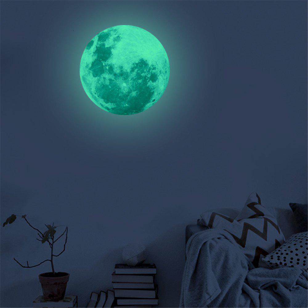 3D Moon Fluorescent Removable Wall Sticker romantic fluorescent moon