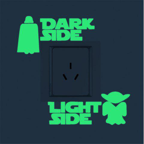 Star Wars  Luminous Switch Sticker Home Decoration - GREEN THUMB