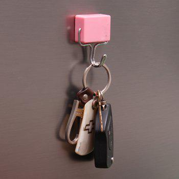 Seamless Nail-Free Rectangular Magnet Hook - LIGHT PINK
