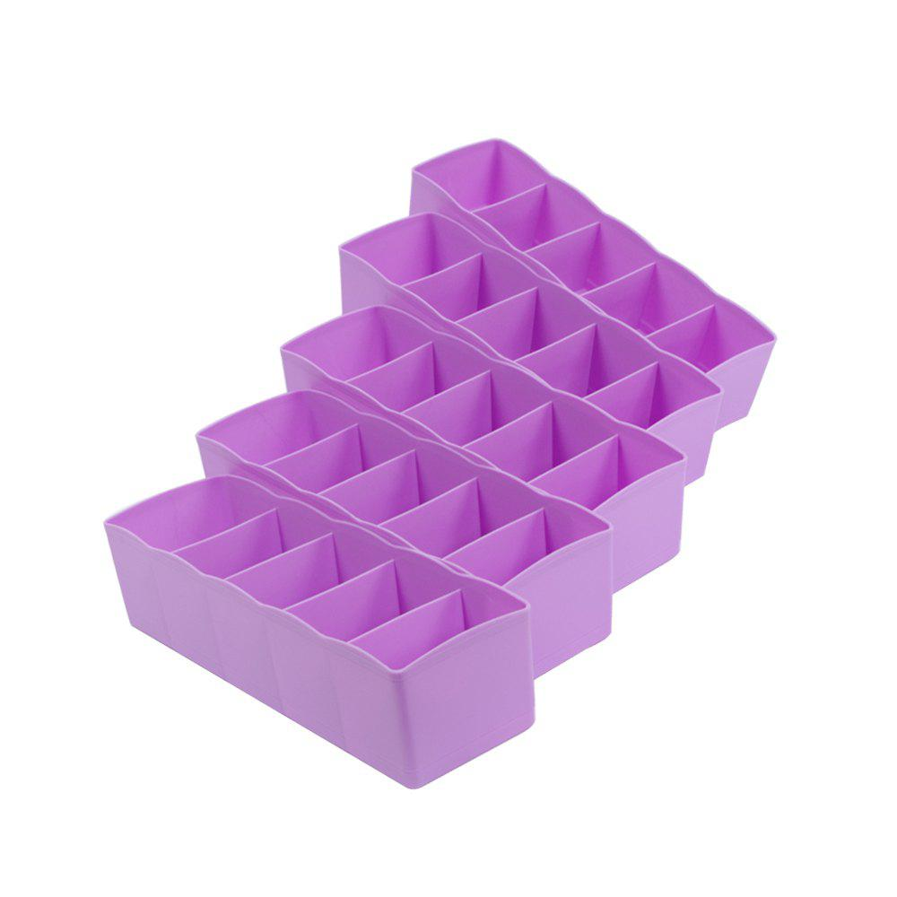 Drawer Plastic Five Compartment Storage Box 5 PCS - HELIOTROPE PURPLE