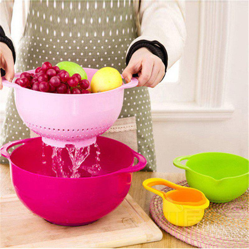 Creative Flour Sifting Suit Baked Rainbow Measuring Cup Set sifting our discerning