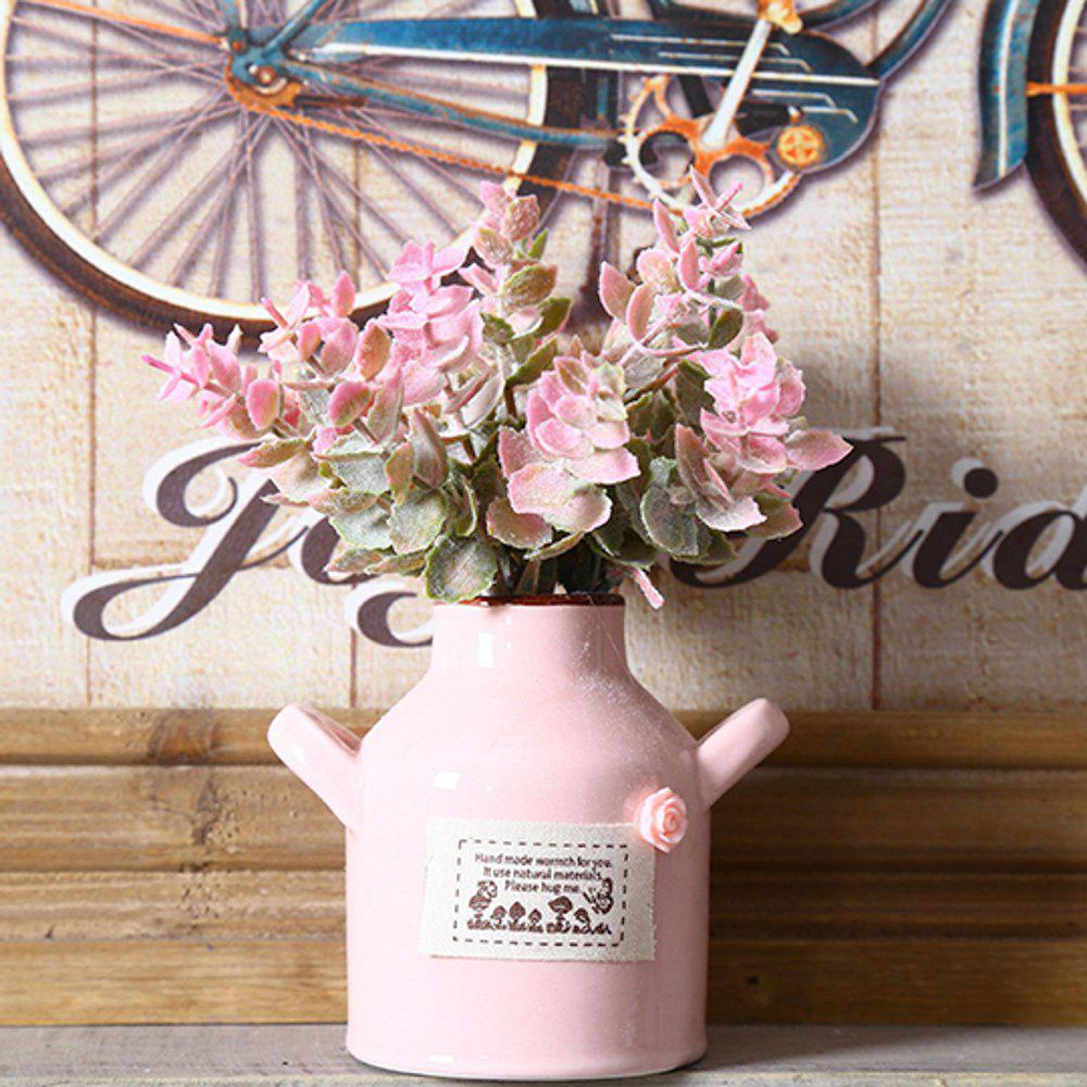 WX-1606 Pastoral Fresh Interior Mini Decorative Plant Pot - PINK