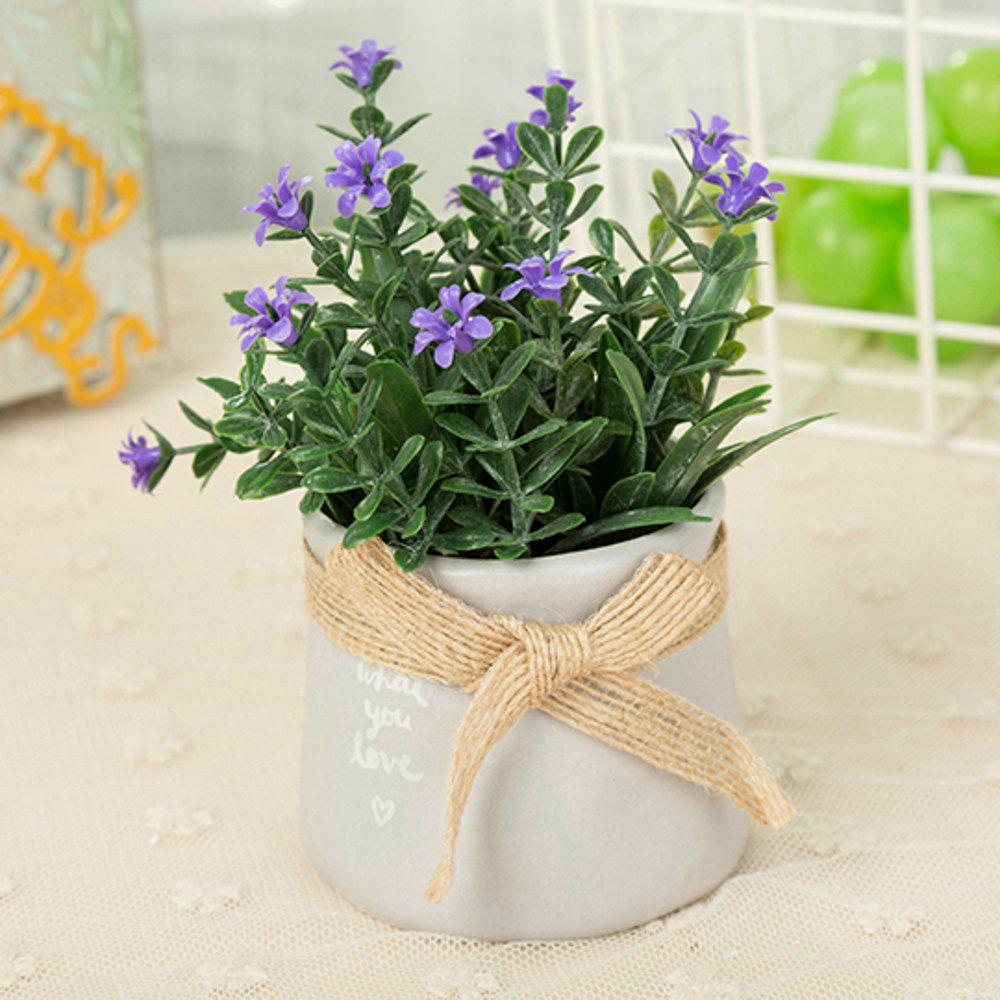 WX-C29-1679 Home Decoration Ceramic Decorative Small Flower Pot - PURPLE