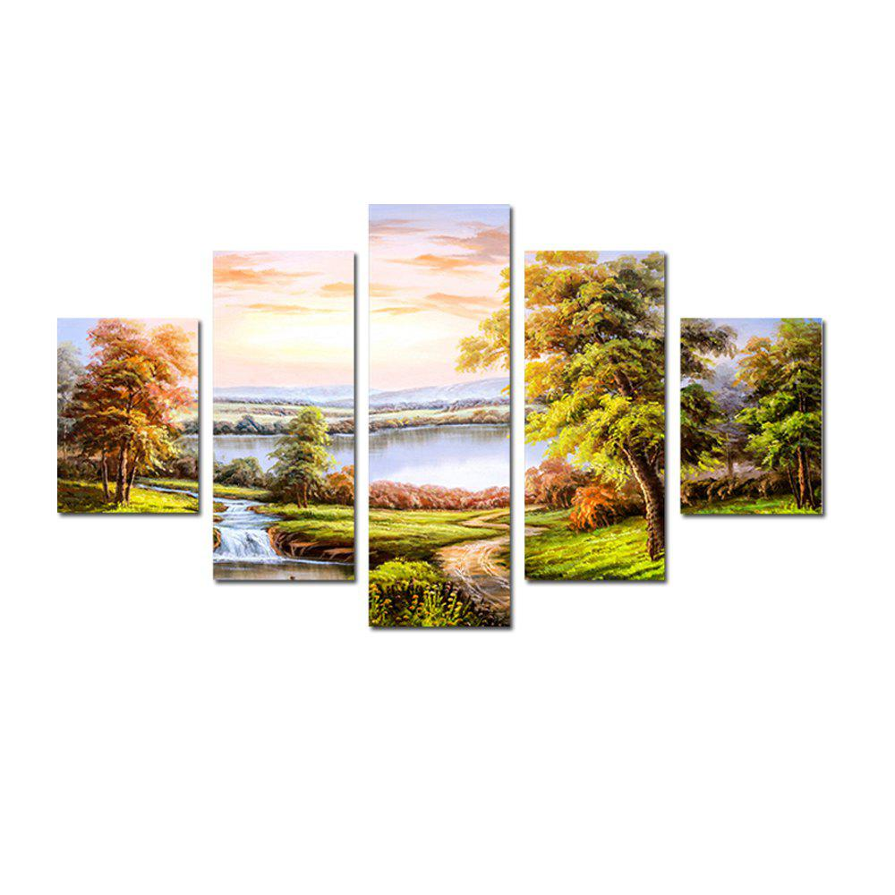 QiaoJiaHuaYuan No Frame Canvas Modern Living Room Sofa Background Scenery 5PCS kate photo background scenery