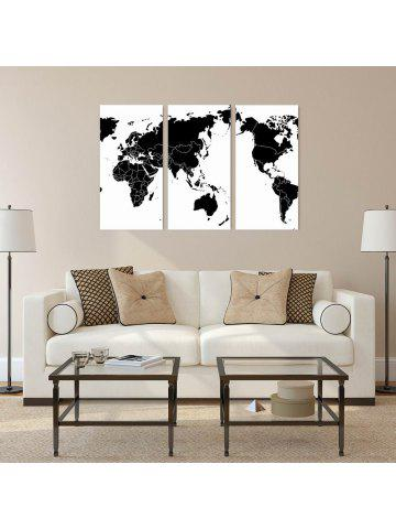 2018 world map online store best world map for sale dresslily w136 world map art wall canvas prints for home decorations 3 pcs gumiabroncs Choice Image