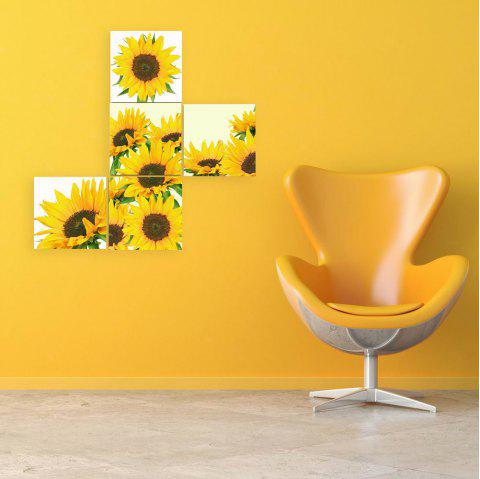 W143 Sunflowers Unframed Art Wall Canvas Prints for Home Decorations 3 PCS - multicolor A 50CM X 50CM X 5PC