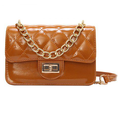 Lingge Chain New Messenger Bag - BROWN