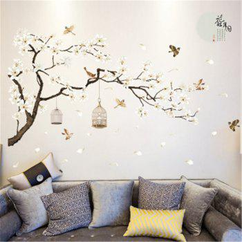 White Peach Butterfly  Wall Sticker for Home Decoration - multicolor