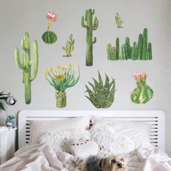 Cactus Wall Sticker for Home Decoration - multicolor