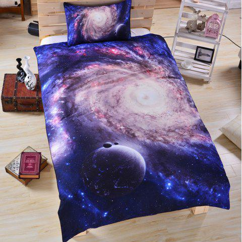 Galaxy 3d Bedding  Duvet Cover Set Digital Print 3pcs - multicolor TWIN