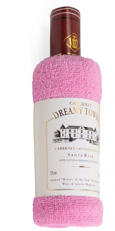 New Cotton Red Wine Towel - PINK