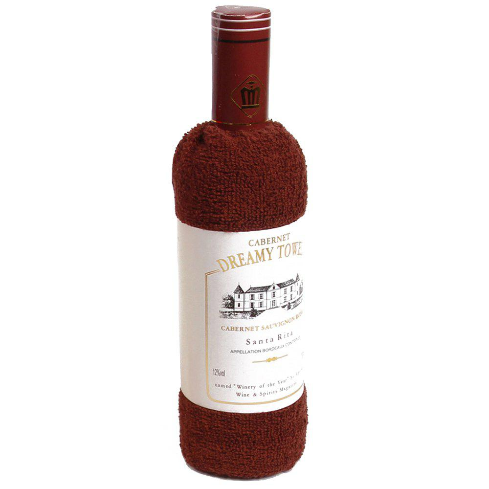 New Cotton Red Wine Towel - COFFEE