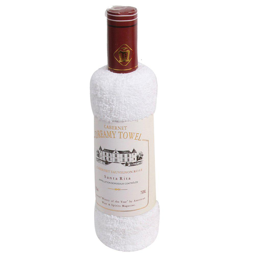 New Cotton Red Wine Towel - WHITE