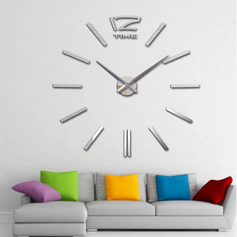Living Room Creative Clock Wall Stickers - SILVER