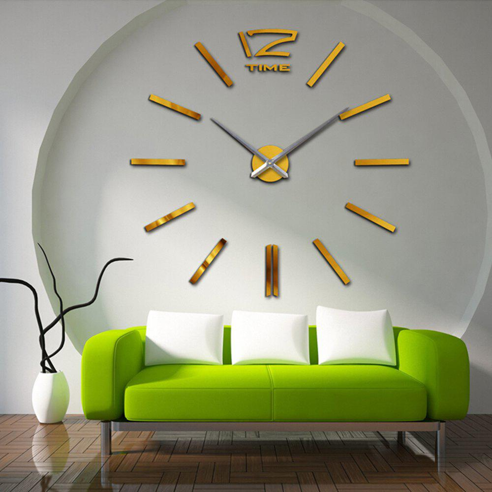 Living Room Creative Clock Wall Stickers - GOLD