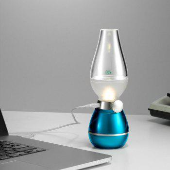 YWXLight USB Rechargeable Dimming LED Kerosene Lamp Blowing Control Night Lights - BLUE