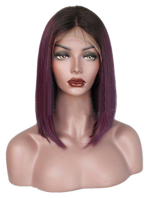 Purple Short Straight Hair Full Lace BOBO Wig Cover - PLUM PURPLE 14INCH