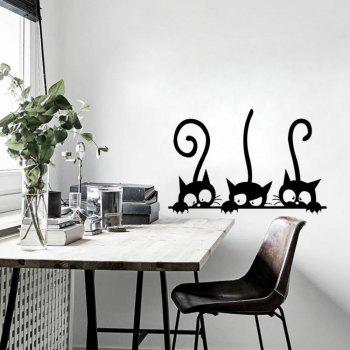 Funny Cat Wall Stickers Home Decorations Washroom - BLACK