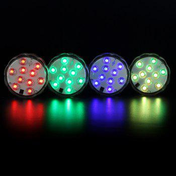 BRELONG 10LED Remote Control Color Dive Lights Bars Holiday Decoration 2pcs - TRANSPARENT