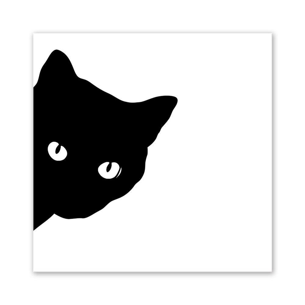 W031 Black Cat Unframed Art Wall Canvas Prints for Home Decoration family wall quote removable wall stickers home decal art mural