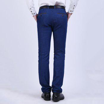 Straight Tube Stretch Business Casual Jeans - DENIM DARK BLUE 36
