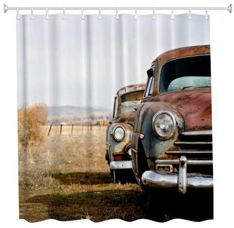 Scrap Classic Car Water-Proof Polyester 3D Printing Bathroom Shower Curtain