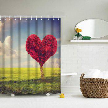 Love Tree Water-Proof Polyester 3D Printing Bathroom Shower Curtain - multicolor A W71 INCH * L79 INCH