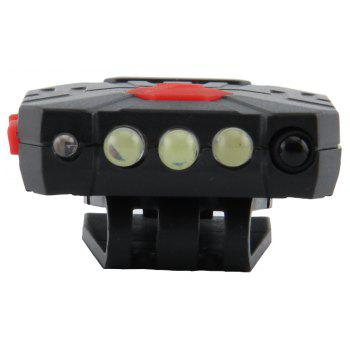 FEIRSH Chargeable Waterproof High Power LED Head Lamp for Fishing - BLACK 1PC