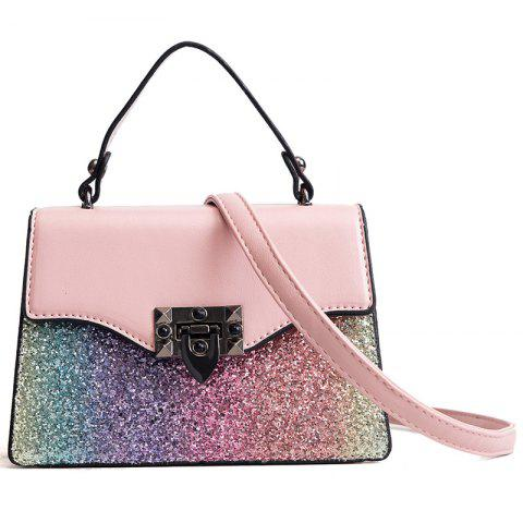 New Trendy Fashion Sequin Messenger Bag - PINK