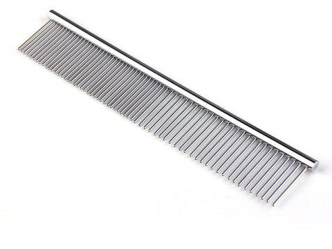 Quality Double Head Dog Cat Pet Stainless Steel Trimmer Comb - SILVER