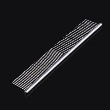 High Quality Double Headed Dog Pet Stainless Steel Pruning Comb  Large - SILVER