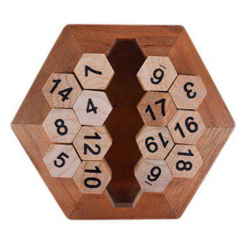 Hexagon Puzzle Developmental Intelligence Toy for Kids - multicolor A
