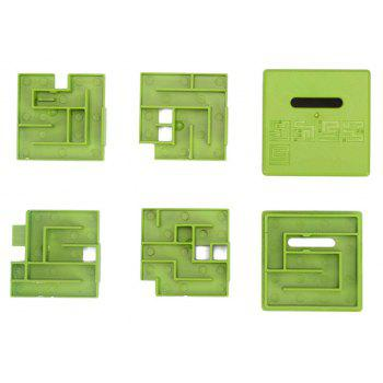 3D Maze Ball Money Box for Kids Adults Plastic Puzzle Toy - GREEN
