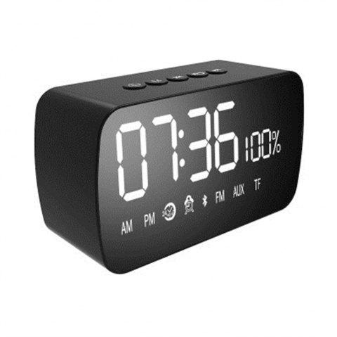 M3 Wireless Computer Mini Subwoofer Alarm Clock Bluetooth Speakers - BLACK