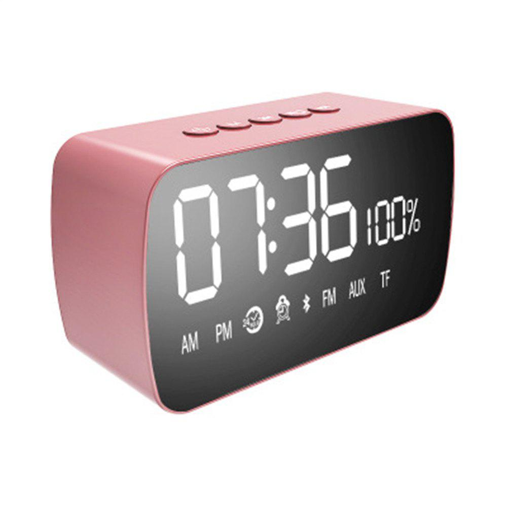 M3 Wireless Computer Mini Subwoofer Alarm Clock Bluetooth Speakers - PINK